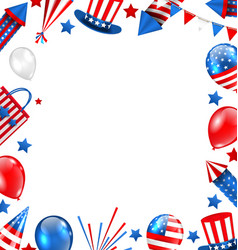 colorful border for american holiday traditional vector image vector image