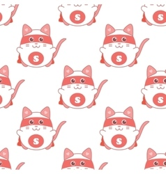 Cute seamless pattern with cat superman vector image vector image