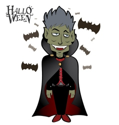 Dracula Halloween 1 vector image vector image