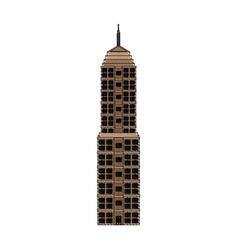 Drawing building urban windows facade image vector