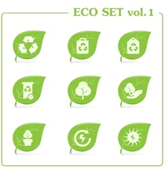 ecology icon set Vol 1 vector image vector image