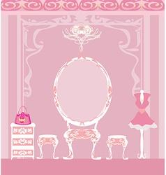 elegant style dressing room vector image