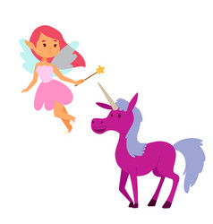 fairy princess girl character cute vector image