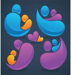 family and love vector image