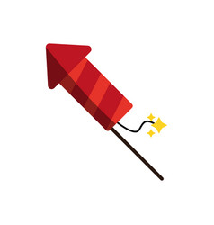 firework rocket icon image vector image
