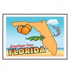 Florida greetings vector