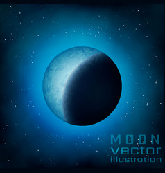 Full moon in the sky vector