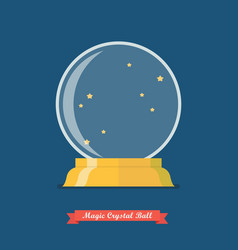 Future crystal ball vector