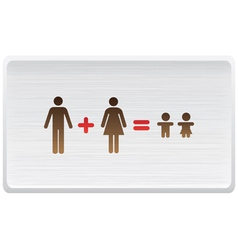 Happy growing family vector image