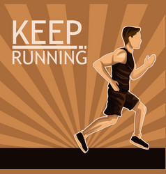 man running sport vector image