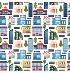 Modern city seamless pattern background vector image