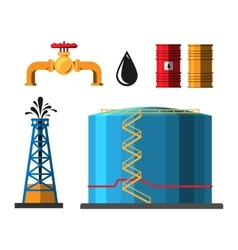 Oil extraction container vector