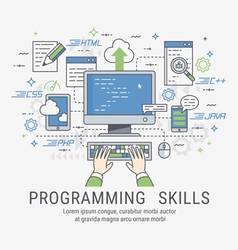 Programming skills for web vector image