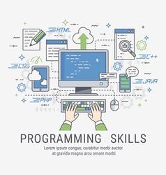 Programming skills for web vector