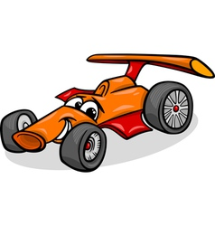 racing car bolide cartoon vector image vector image