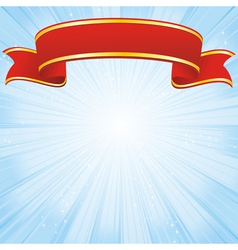 red ribbon background vector image vector image