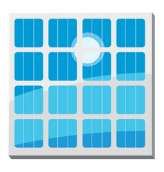solar battery icon cartoon style vector image