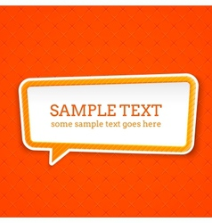 Speech bubble at seamless background vector image vector image