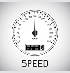 speedometer speed outline icon vector image vector image