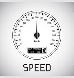 Speedometer speed outline icon vector
