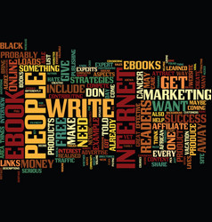 The best content for your ebook text background vector