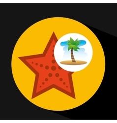 Tropical vacation beach sea starfish vector