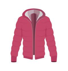 Unisex down jacket flat style vector