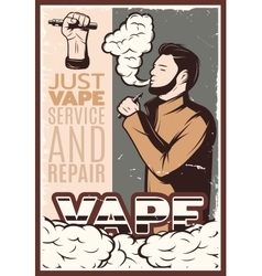 Vaping Vintage Poster vector image