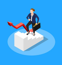 walking upstairs business concept vector image