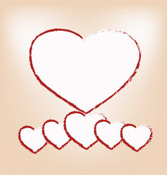 White hearts vector