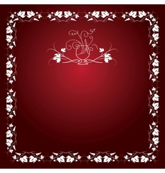 Wine leaf red pattern vector