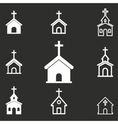 Church icon set vector image