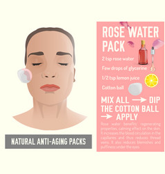 Anti-aging face pack 2-03 vector