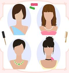 wig vector image
