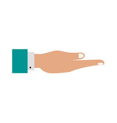 Open hand icon image vector