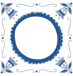 Delft Blue empty vector image