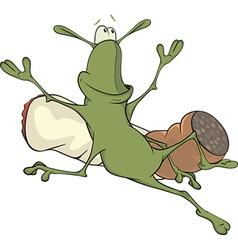 A cockroach and a cigarette cartoon vector
