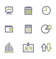 Stock and market symbol line icon on white vector