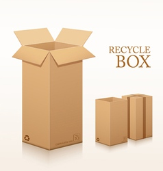 Recycle brown box long size packaging vector image