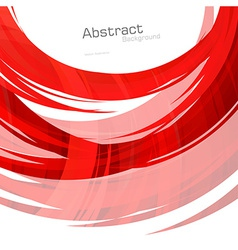 Abstract red lines background vector image vector image