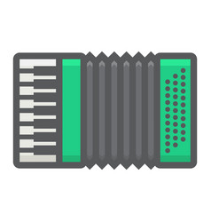accordion filled outline icon music vector image vector image
