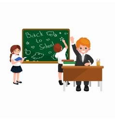 back to school and children education concept vector image vector image