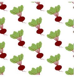 Beet vegetable pattern vector