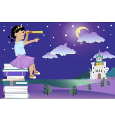 Books for little princess vector image