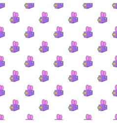 Camcorder pattern cartoon style vector