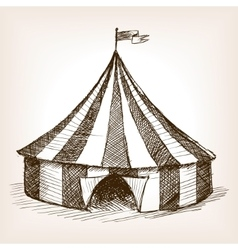 Circus tent hand drawn sketch vector