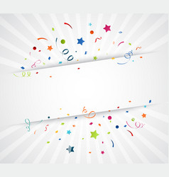 colorful confetti on white background vector image