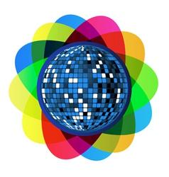 Colorful disco ball vector