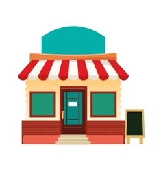colorful store facade icon vector image