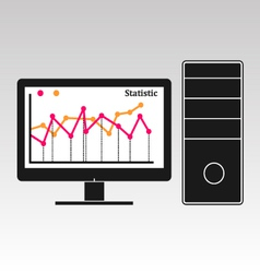 Computer info graphic vector image vector image